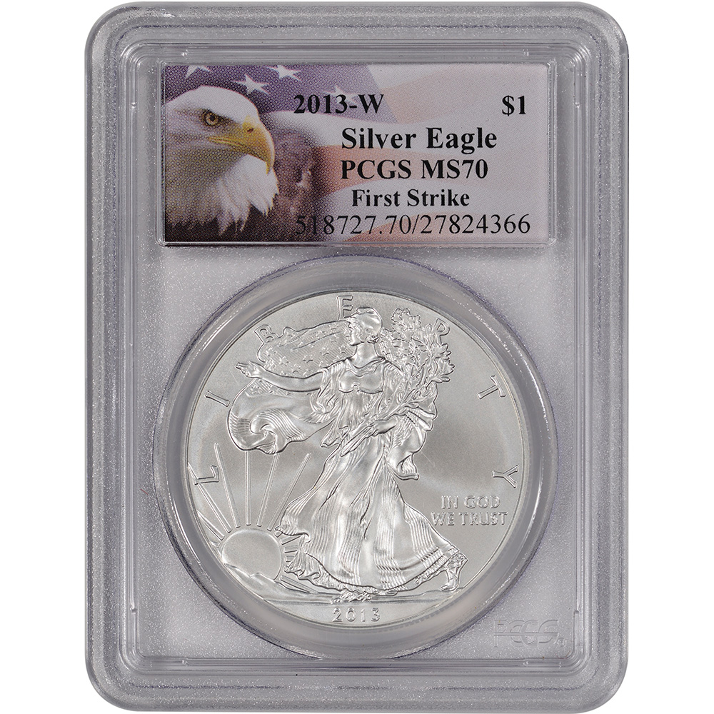 2013-W American Silver Eagle Uncirculated Burnished - PCGS MS70