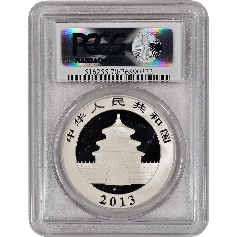 2013 China Silver Panda 1 oz 10 Yuan PCGS MS70 Panda Label   eBay