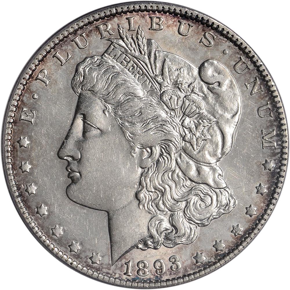 1893 O Us Morgan Silver Dollar 1 Pcgs Au53 Ebay