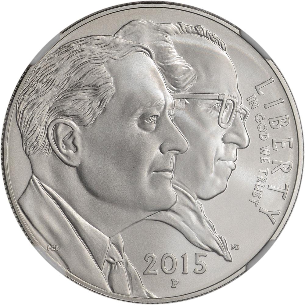 2015-P US March of Dimes Commemorative BU Silver Dollar ...