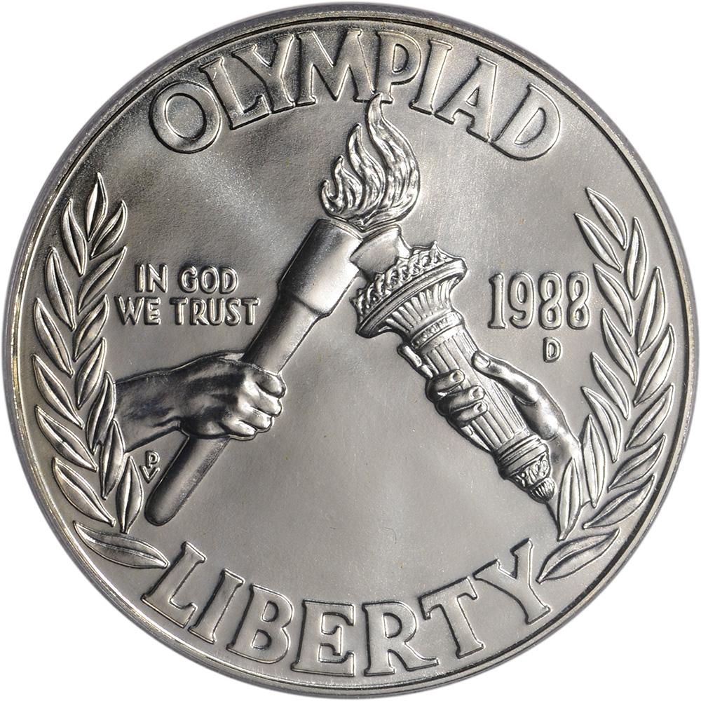 1988 olympic 1 dollar coin