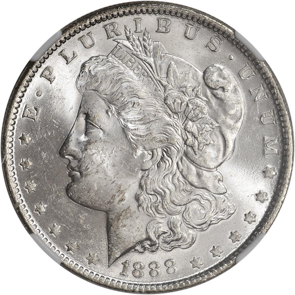1888 Us Morgan Silver Dollar 1 Ngc Brilliant