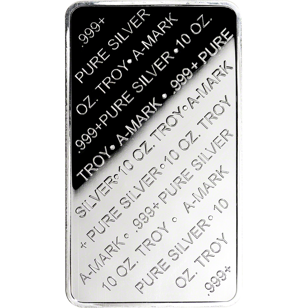 10 Oz Silver Bar A Mark 999 Pure Silver Amark Ebay