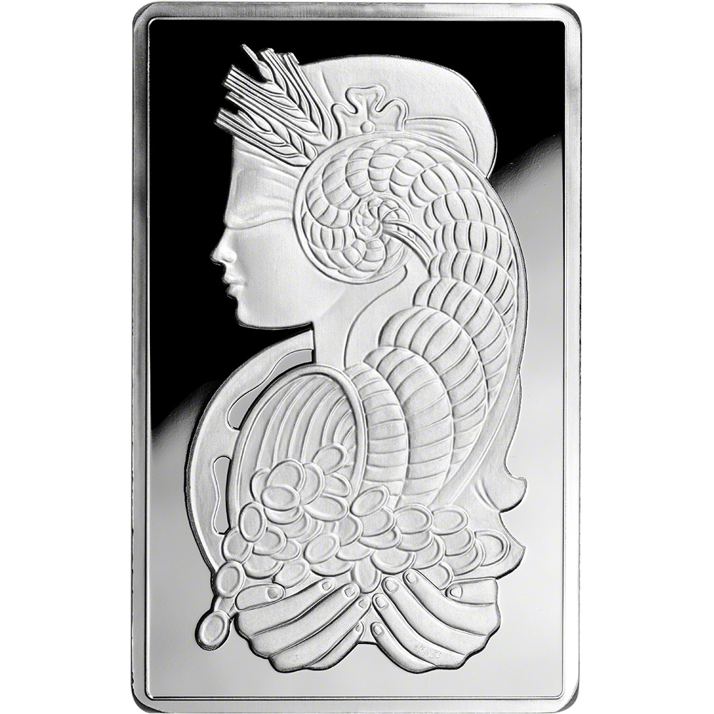 10 Oz Silver Bar Pamp Suisse Fortuna 999 Fine In