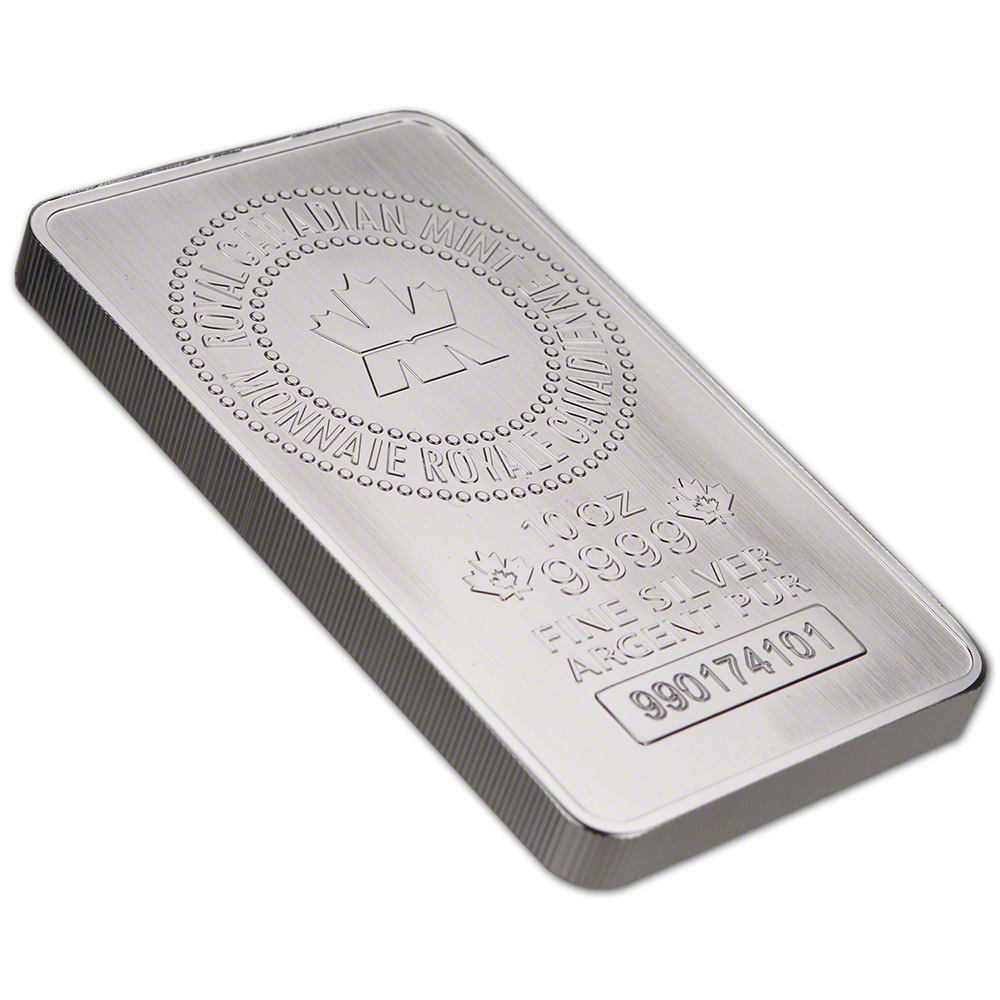 Five 5 10 Oz Rcm Silver Bar Royal Canadian Mint 9999