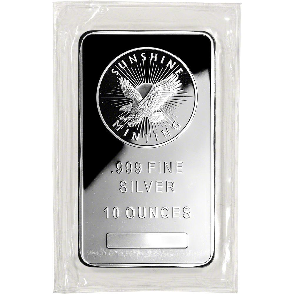10 Oz Silver Bar Sunshine Minting 999 Fine Ebay