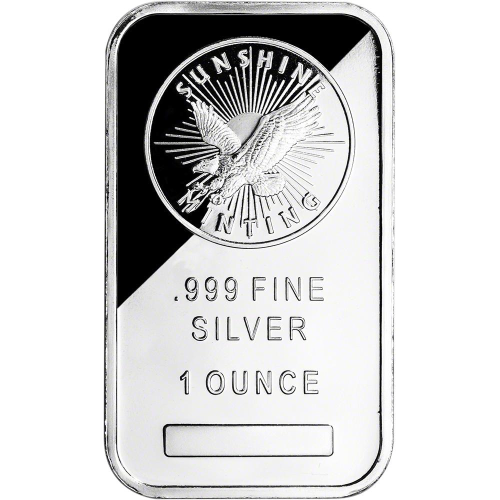 Five 5 1 Oz Silver Bar Sunshine Minting 999 Fine