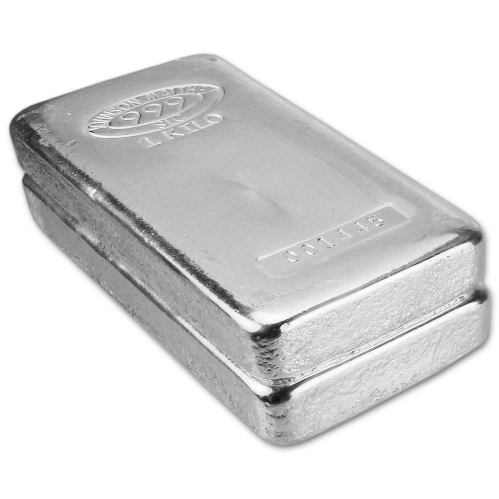Two 2 Kilo 32 15 Oz Jm Silver Bar Johnson Matthey