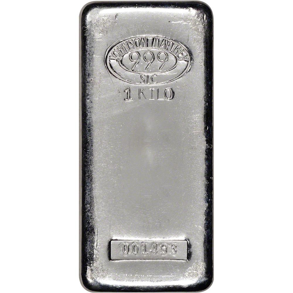 Kilo Silvers: Kilo (32.15 Oz.) JM Silver Bar