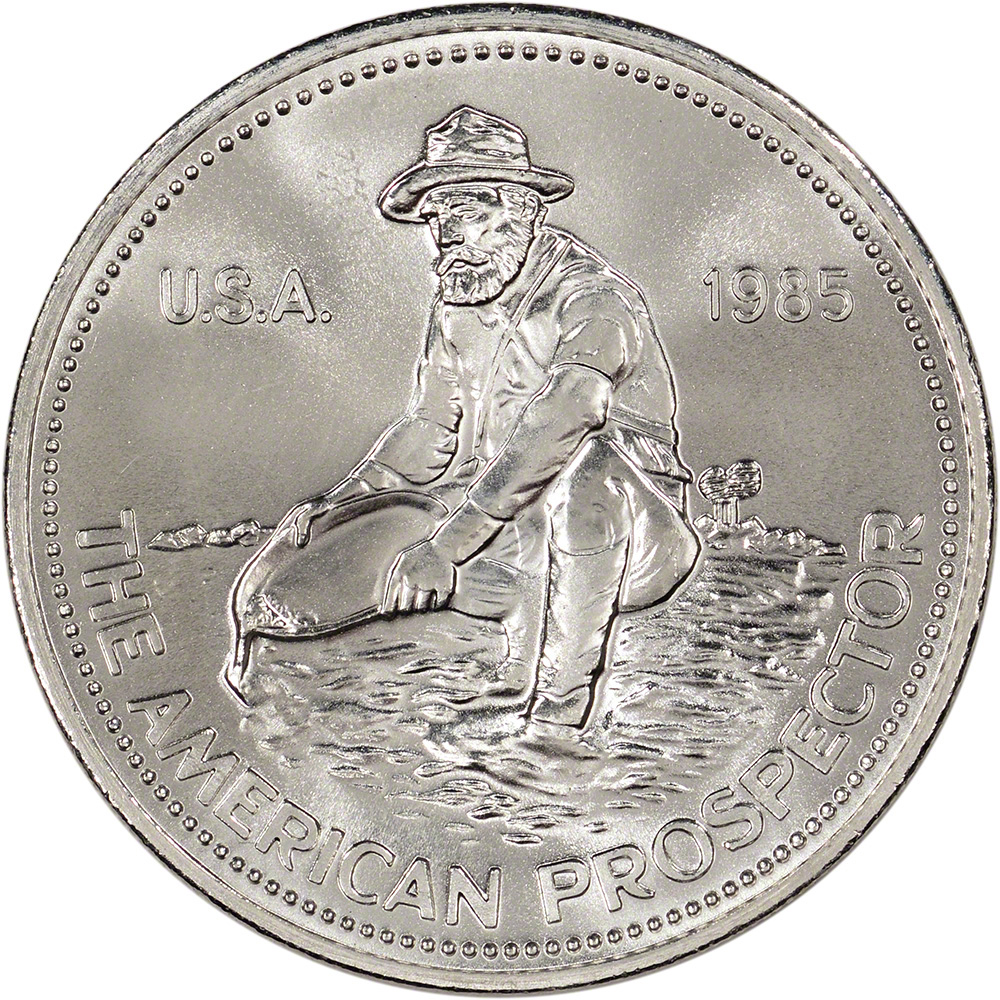 Five 5 1 Oz Silver Round Engelhard Prospector 999