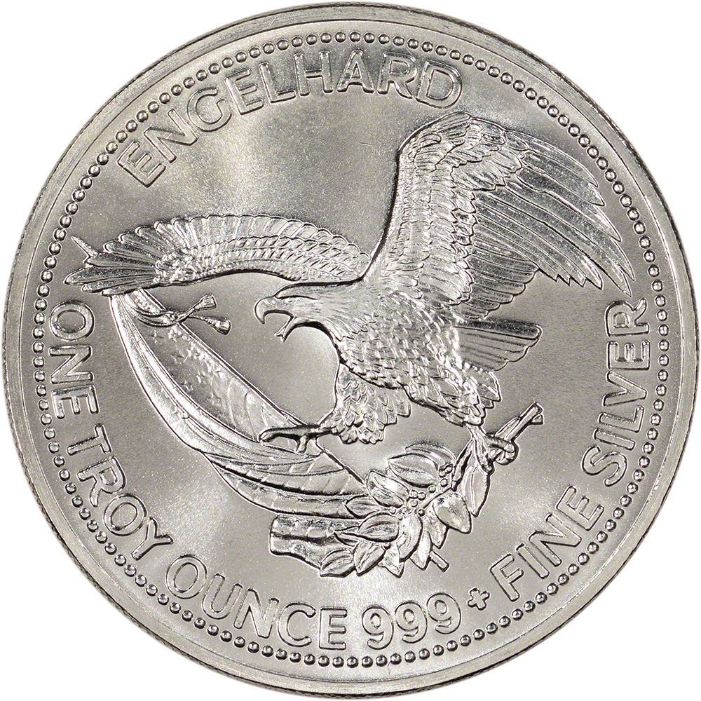 1 Oz Silver Round Engelhard Prospector 999 Fine Ebay