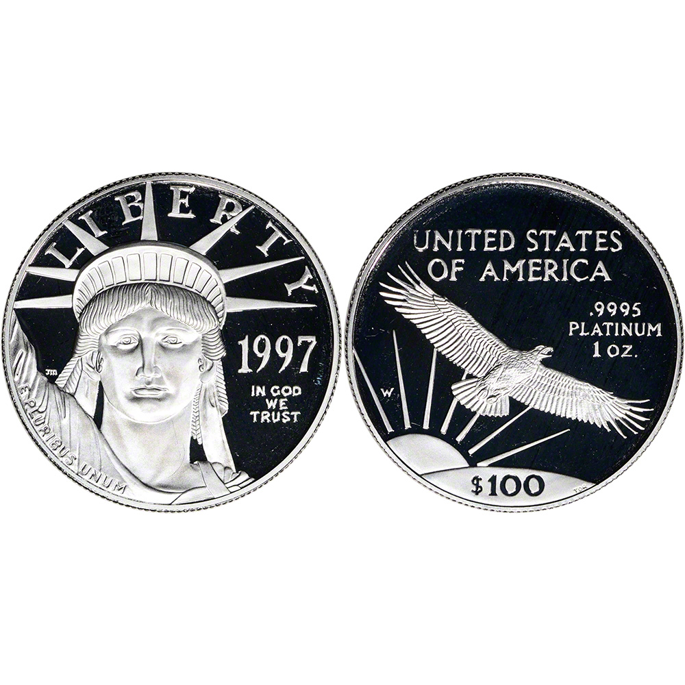 1997 American Eagle Impressions Of Liberty 3 Coin Set