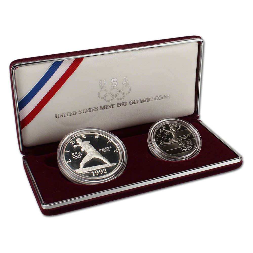 1992 olympic 3 coin set