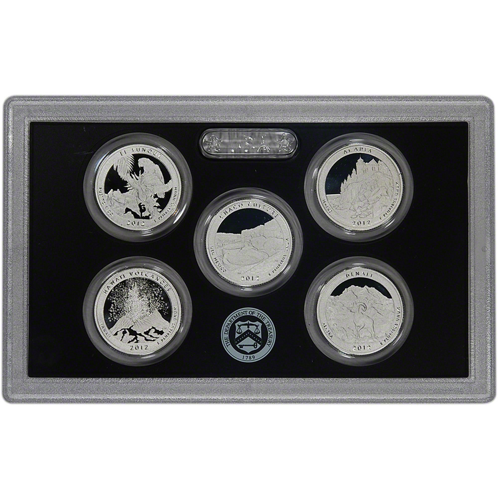 2012-S United States Mint SILVER PROOF SET 14-Coins w/Box