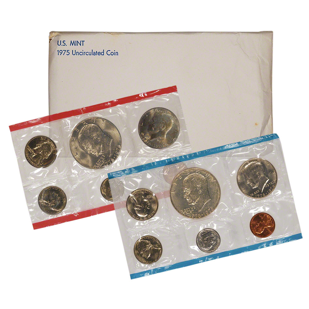 1975 United States Mint Uncirculated Coin Set Ebay
