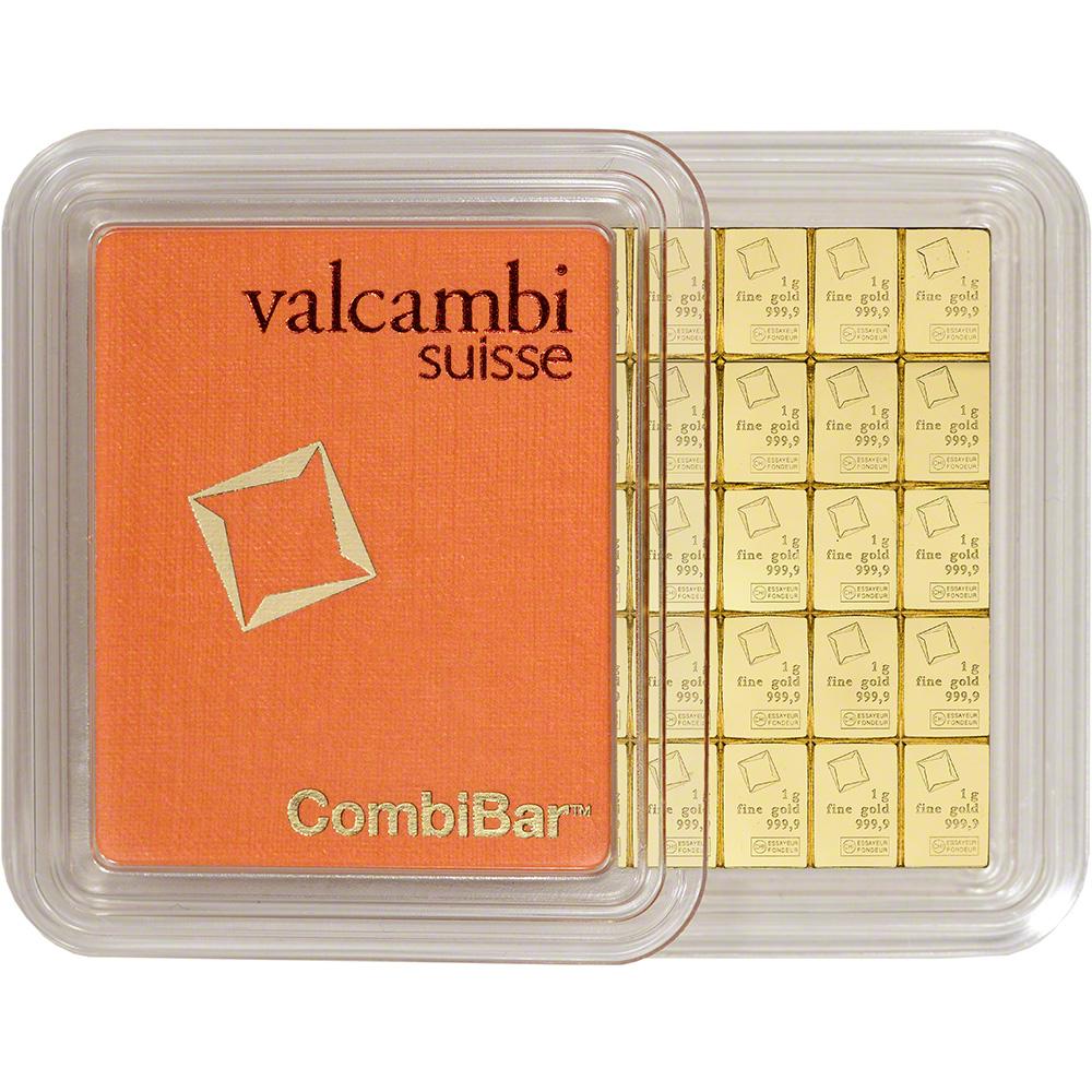 Valcambi 50x1 Gram Gold Combibar 1 6075 Oz With Assay
