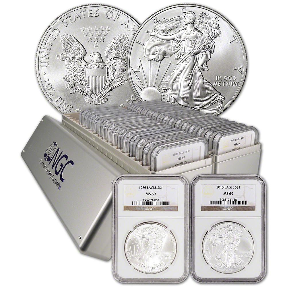 30 Pc 1986 2015 American Silver Eagle Complete Date