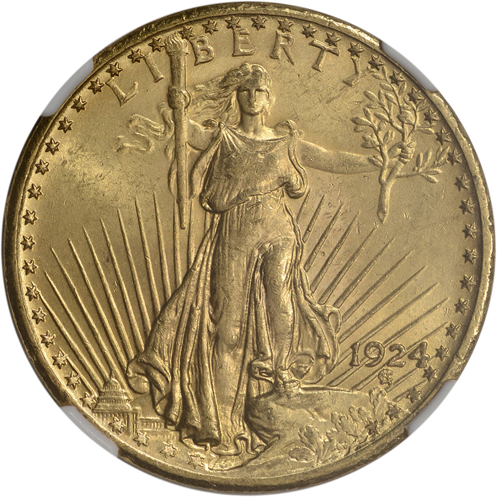 us gold 20 saint gaudens double eagle ngc ms64 random date ebay. Black Bedroom Furniture Sets. Home Design Ideas