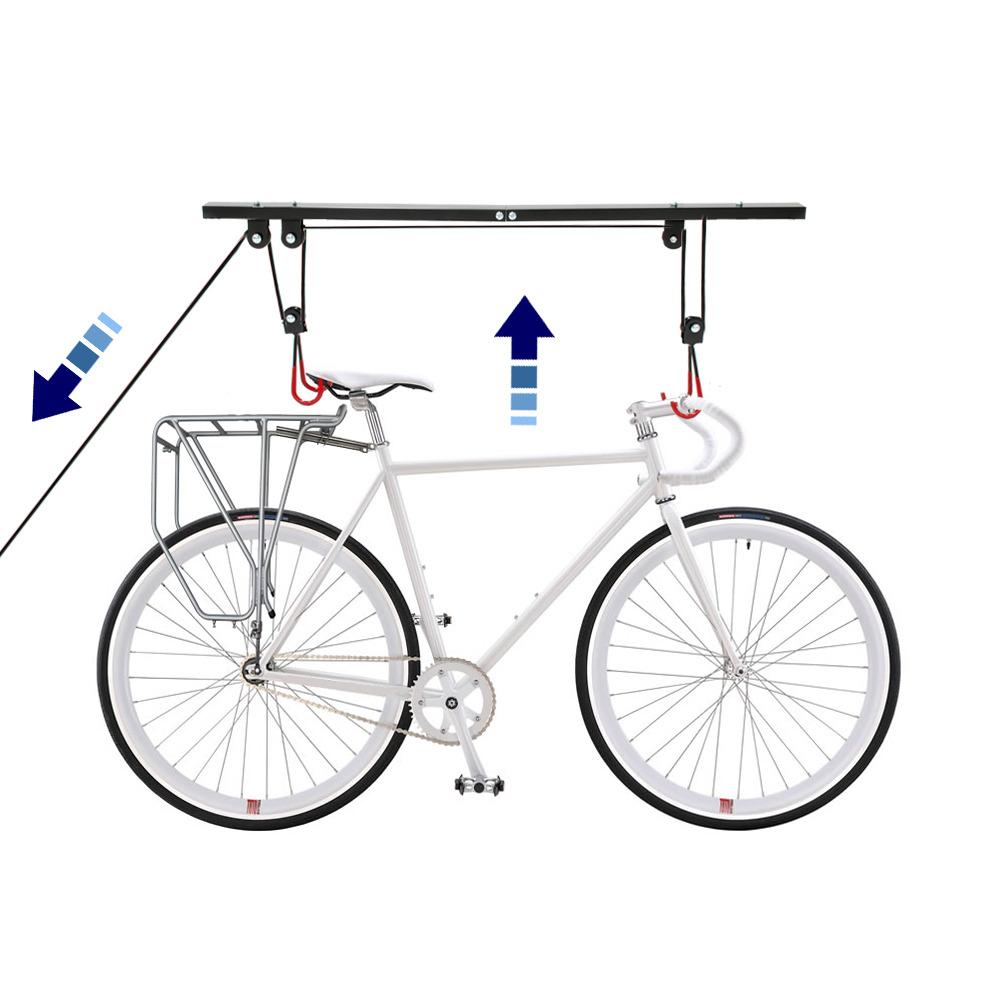 bicycle bike ceiling mount storage rack lifter. Black Bedroom Furniture Sets. Home Design Ideas