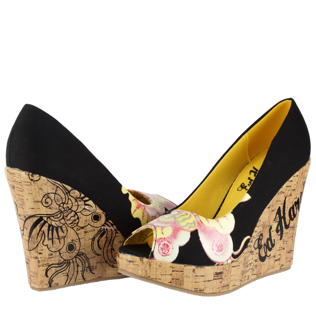 Ed Hardy Womens Wedge Shoes