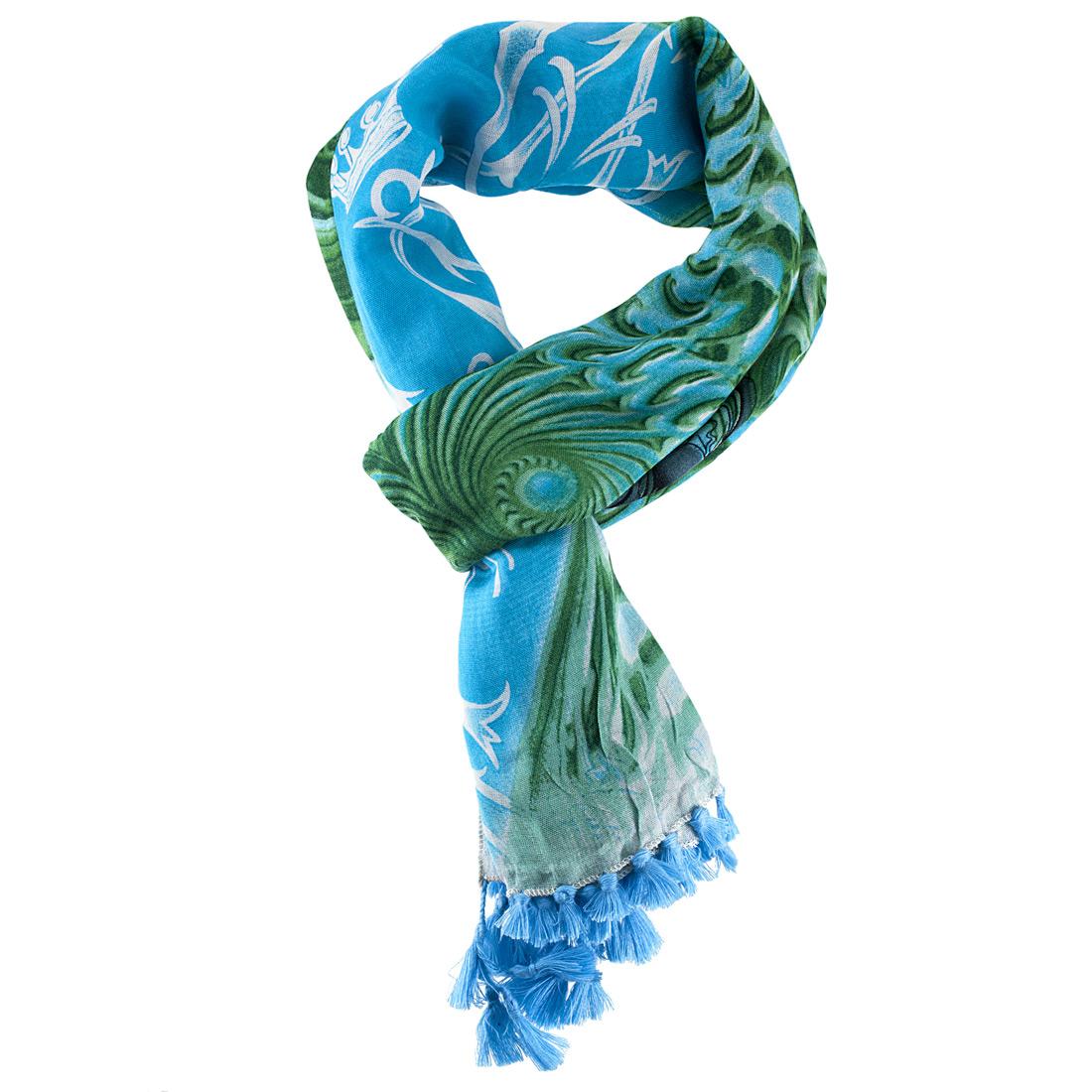 christian audigier 60x40 bird fringe scarf ebay