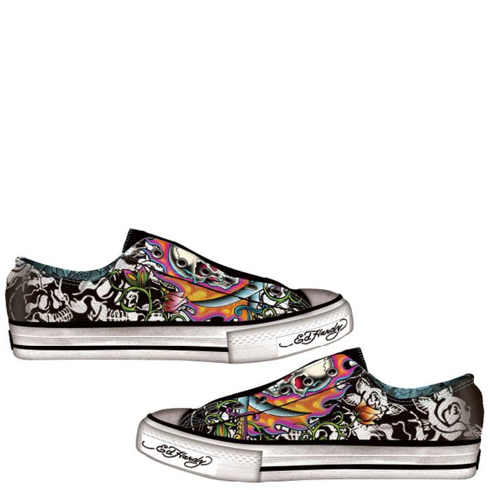 Ed-Hardy-Black-Lowrise-Stencil-Shoe-for-Women