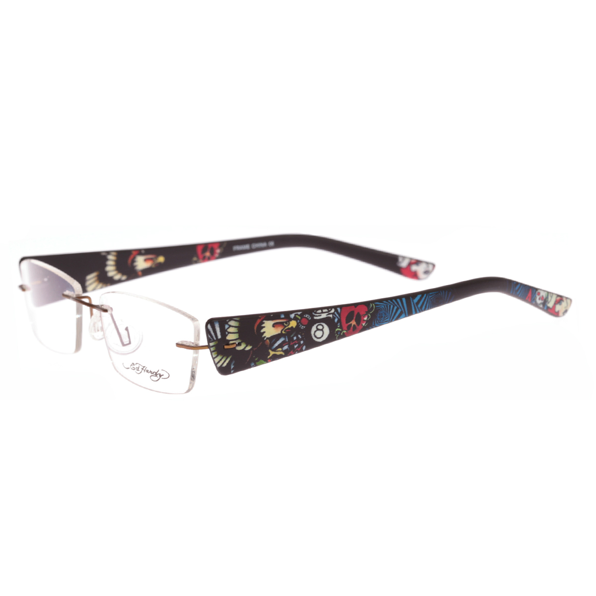 Ed Hardy Lites Eyeglasses Frames : Ed Hardy EHL 815 Lite Designer Eyeglasses eBay