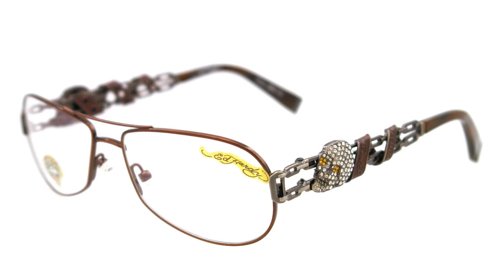 3ed85e84a48b Ed Hardy Cocoa EHO 705 Mens Designer Eyeglasses