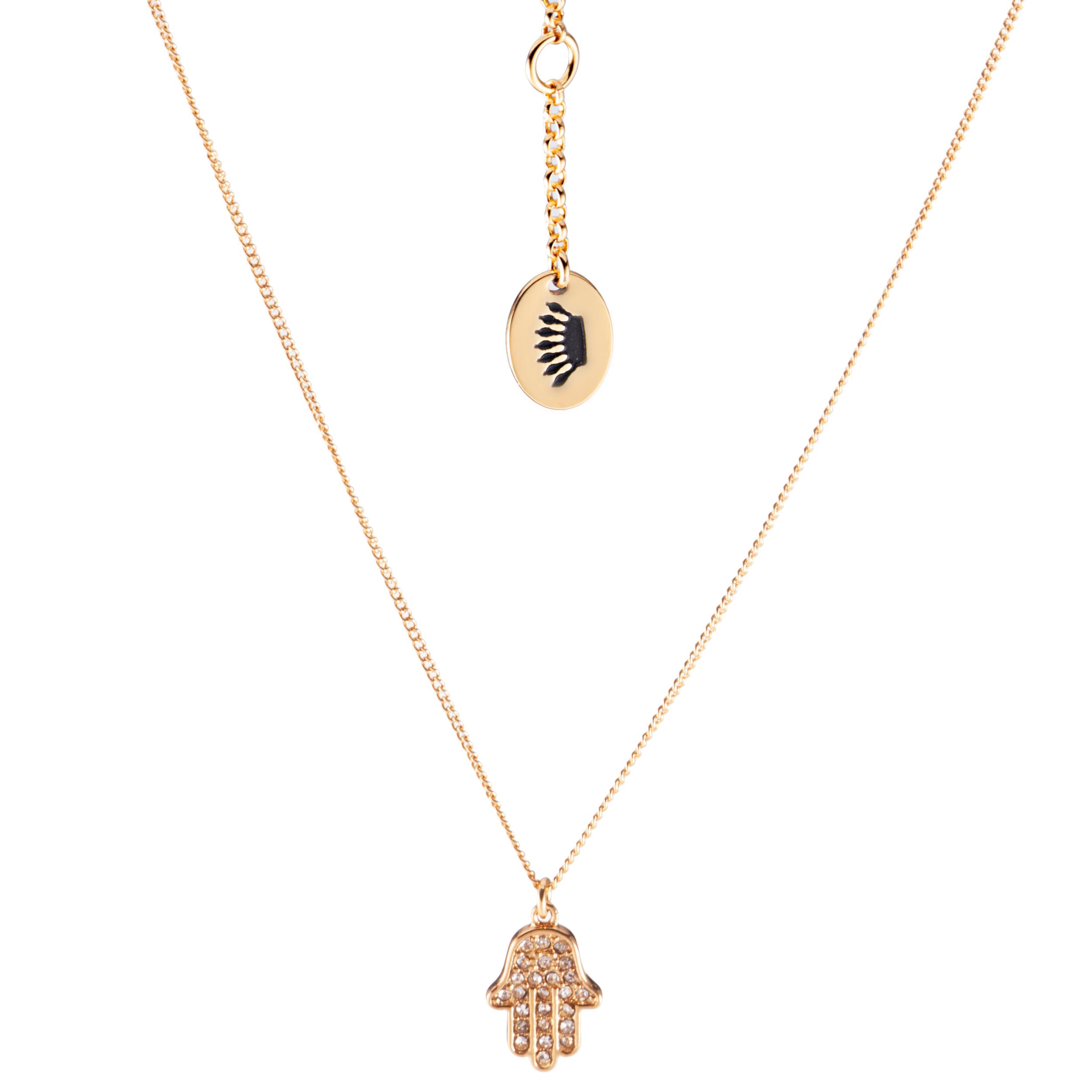 Juicy Couture Hamsa Hand Pendant Necklace-Gold | eBay