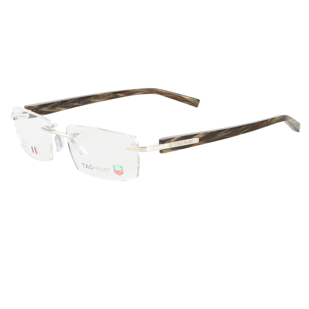 TAG Heuer 8102-005 Trends Rimless Eyeglasses - Brown Fiber ...