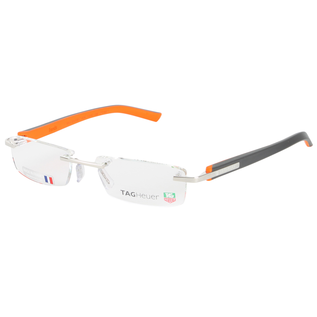 Rimless Glasses Tag Heuer : TAG Heuer Charcoal/Orange 8107-006 Trends Rubber Rimless ...